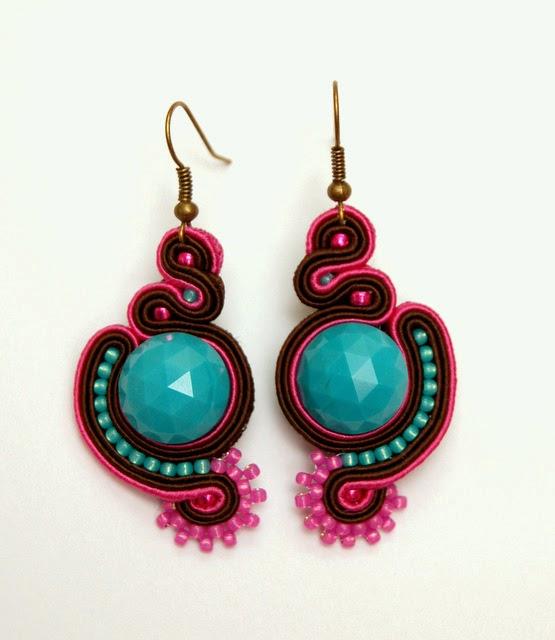kolczyki sutasz soutach earrings