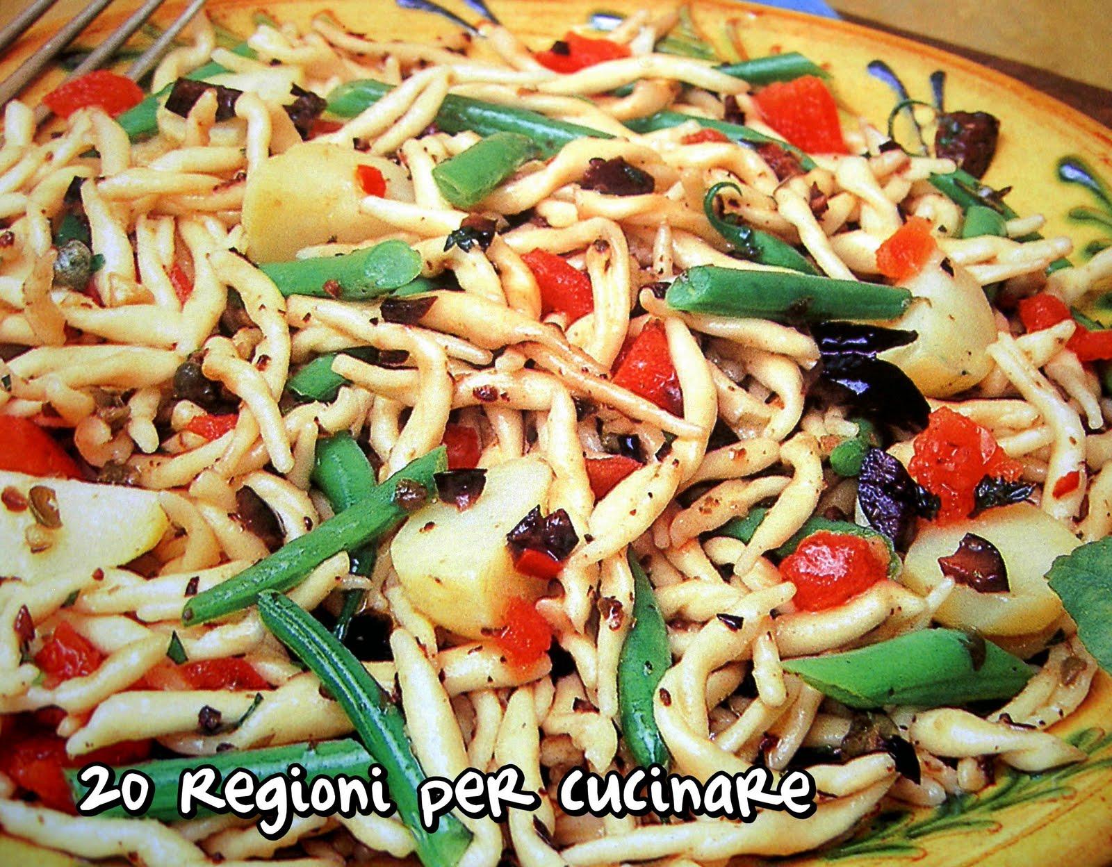 20 regioni per cucinare trofie piccantine for Cucinare per 20 persone