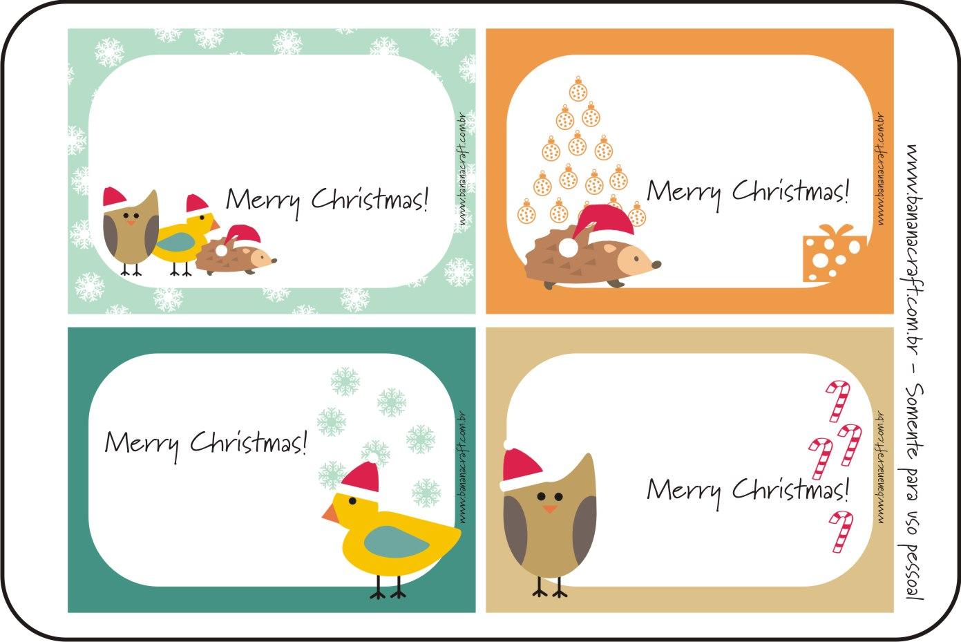 Muitas vezes Cartões de Natal - Etiquetas - Mundinho da Criança NS69