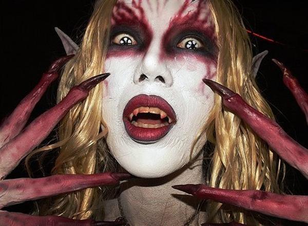 maquillaje de demonio mujer