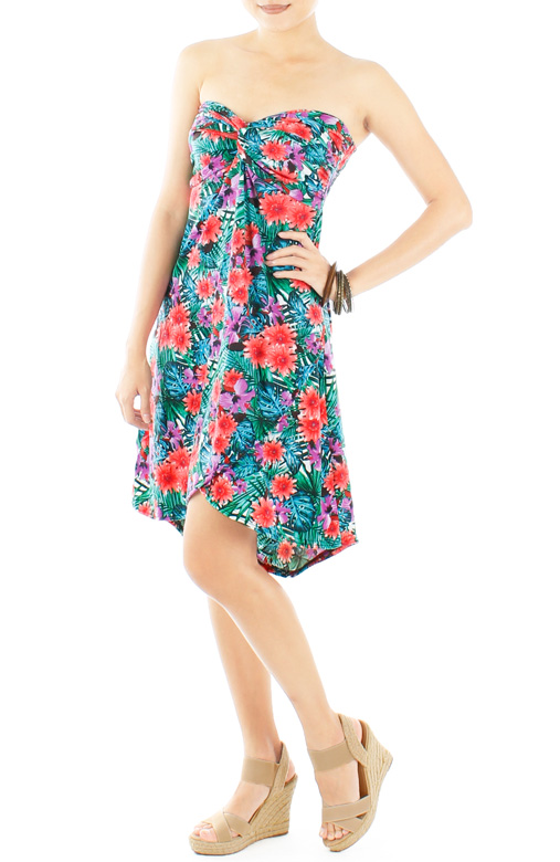 Paradise Knot Dress with Dip Back Skirt