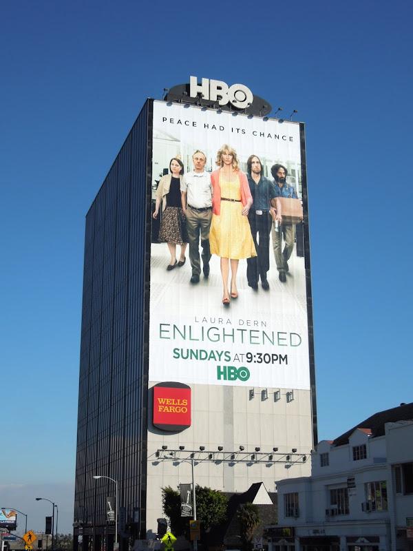 Giant Enlightened season 2 billboard Sunset Strip
