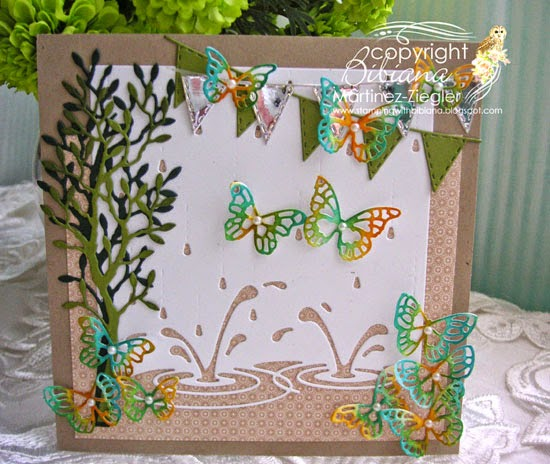 spring splashing puddles front card