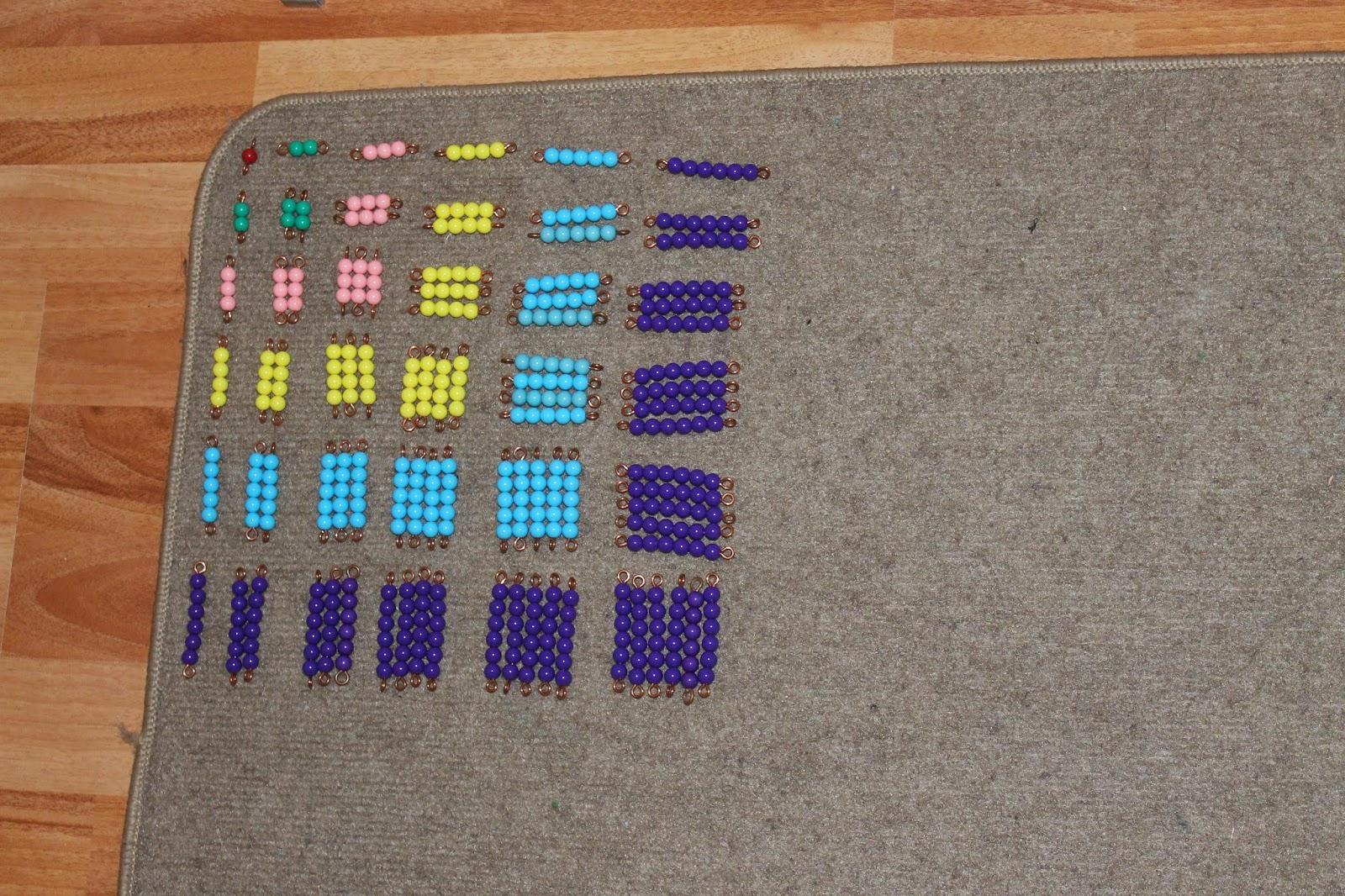 L 39 cole des amours m morisation de la multiplication 2 - Table de pythagore montessori ...
