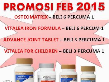 PROMOSI HEBAT SHAKLEE FEBRUARI 2015