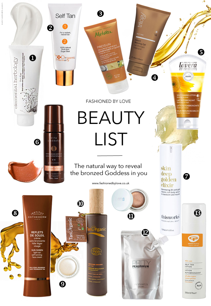 Best natural & organic self tanners / organic beauty product reviews / elemental herbology, organic pharmacy, prrty peaushun, melvita, tan organic, green people, this works, trilology / via fashioned by love british fashion blog