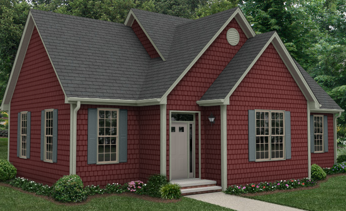 Brick driveway image brick design vinyl siding for Vinyl siding house plans