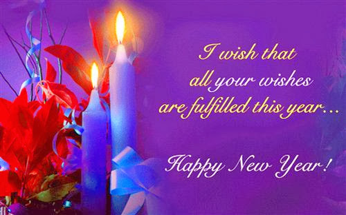 happy new year greeting card love message to you and your family