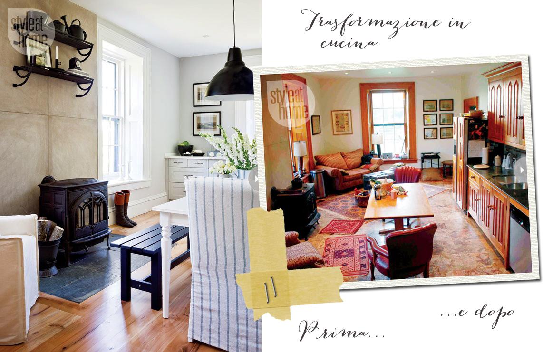 Trasformazione di una cucina shabby chic interiors for Arredamento shabby ikea