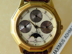 BAUME & MERCIER MOONPHASE DIAMOND INDEX MOP DIAL - ALL GOLD
