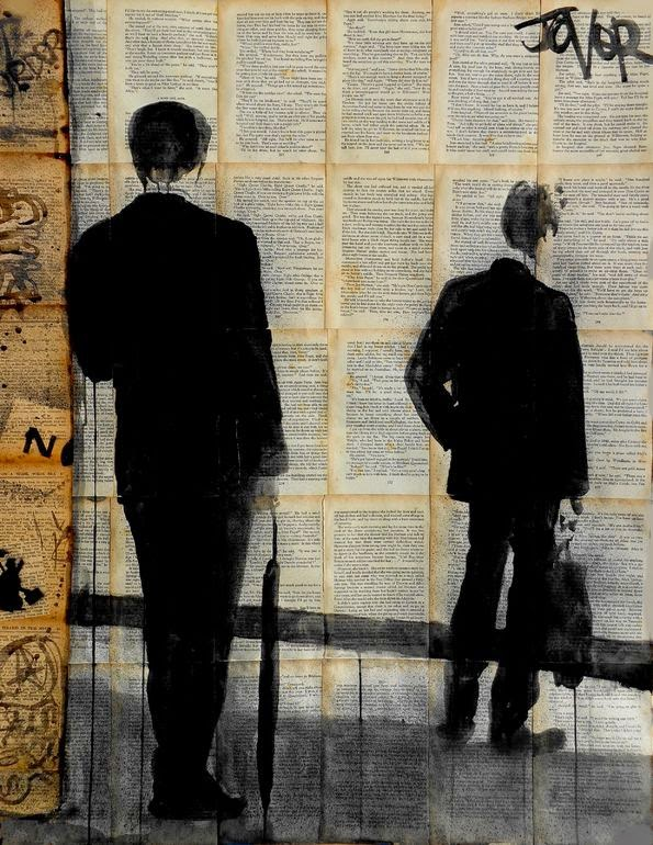 27-The-Wait-Loui-Jover-Drawings-on-Book-Pages-www-designstack-co