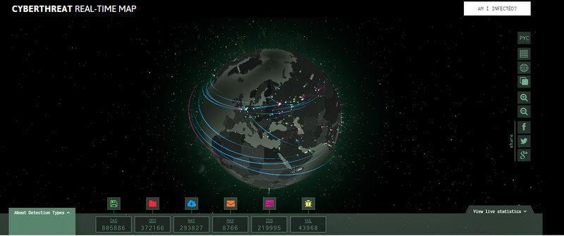 kaspersky live cyber attack