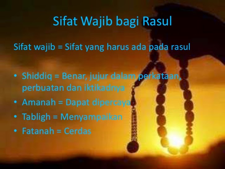Sifat yang Wajib bagi Nabi