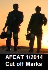 Cut off marks for AFCAT 1 2014 exam
