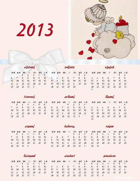 Calendar Za : Kalendar za godinu new calendar template site