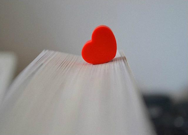 Un corazón rojo