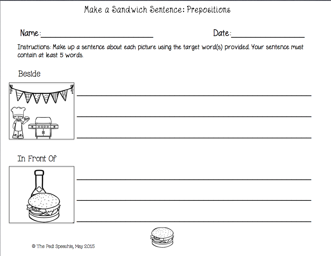 May 2015 The Pedi Speechie – Syntax Worksheets