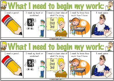 What I need to begin work Desk Strips PDF file Clever Classroom