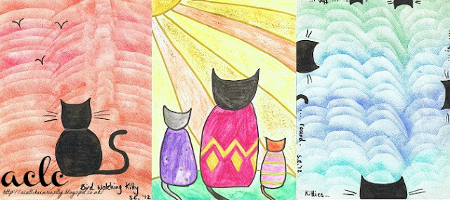 Chalk and Ink Kitty Prints