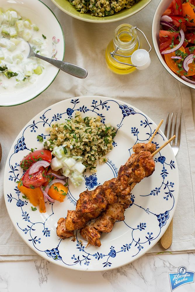 Tureckie szaszłyki drobiowe