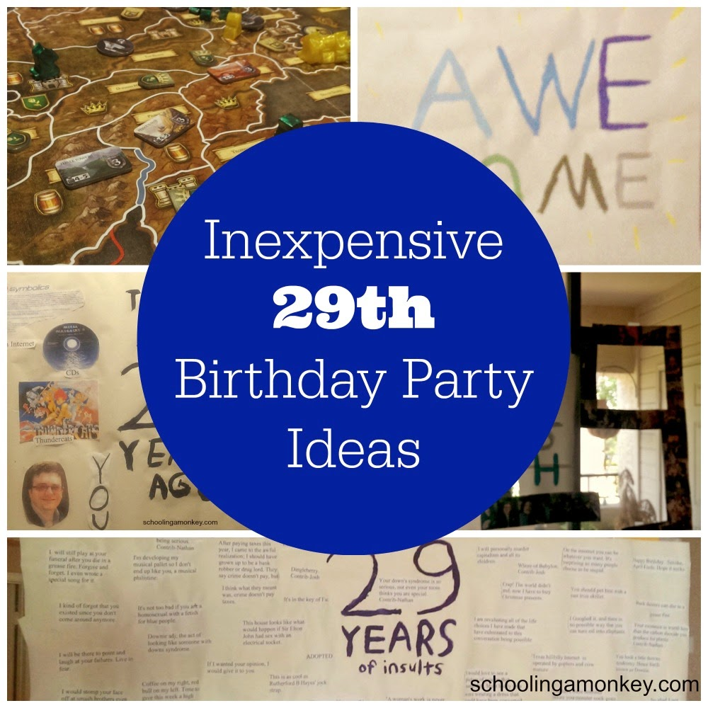 Decorating on a budget 29th birthday party ideas schooling a monkey