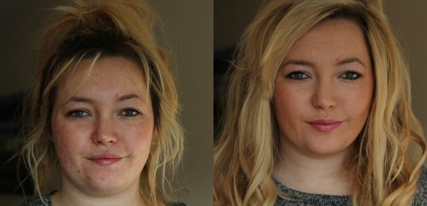 Oxygenetix oxygenating foundation review, beige swatch, before, after