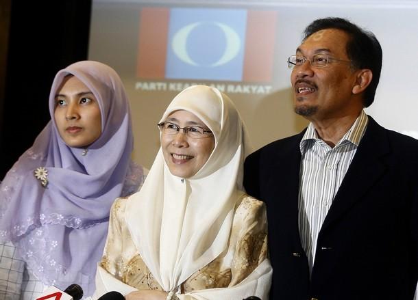 Ketua Umum PKR Datuk Seri Anwar Ibrahim, Wan Azizah Nurul Izzah