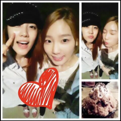 Taeyeon SNSD & Noeul Rainbow