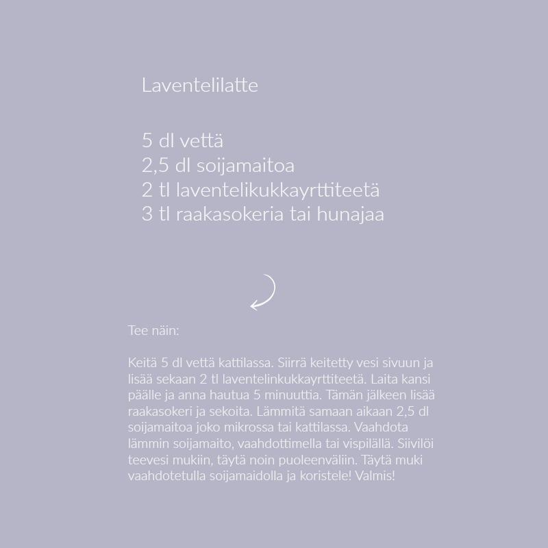 laventelilatteresepti
