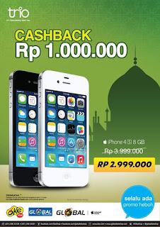 iPhone 4S 8GB Rp 2.999.000 (Cashback Rp 1 Juta)