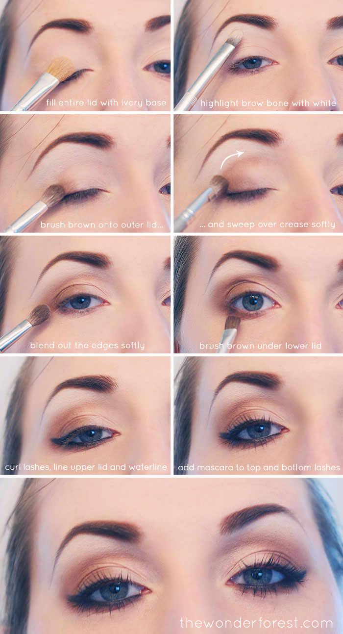 Everyday Neutral Smokey Eye TutorialSmokey Eye Tutorial Step By Step For Blue Eyes