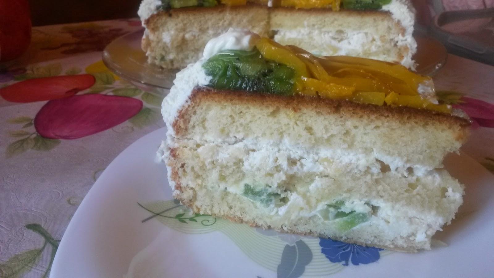 Домашний бисквитный торт рецепт фото пошагово