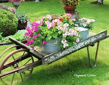 Rustic Garden Wheelbarrow 2015 Organized Clutter