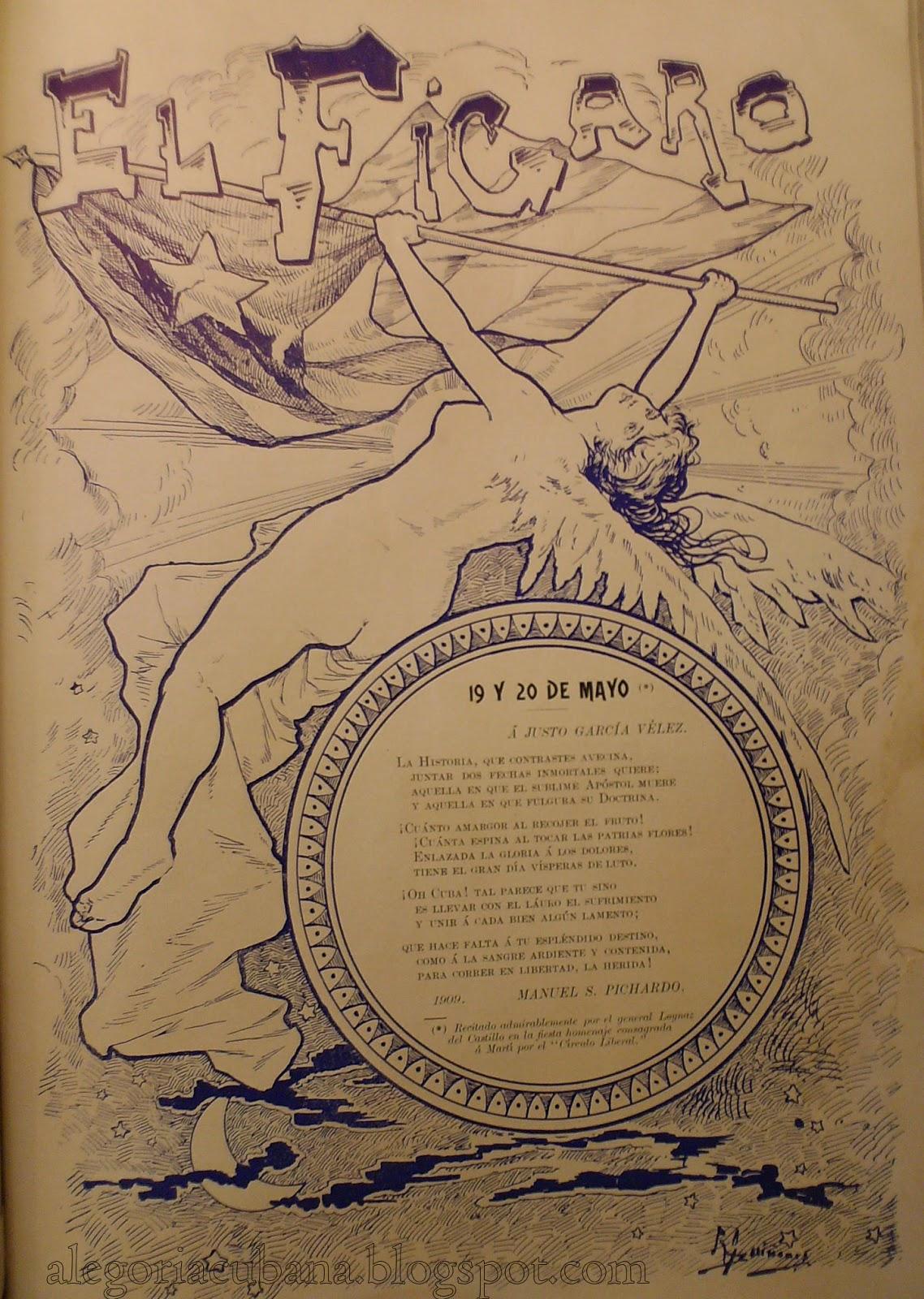El Fígaro, 20 de mayo de 1909, alegoría de Cuba