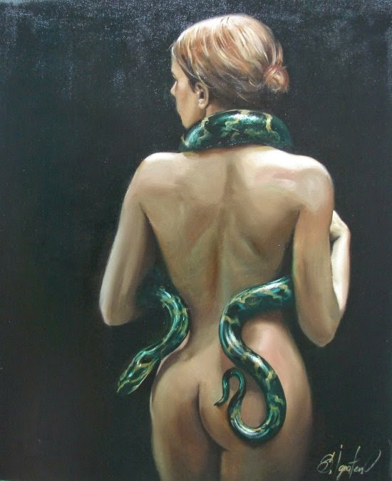 Sergey Ignatenko pinturas mulheres sensuais seminuas