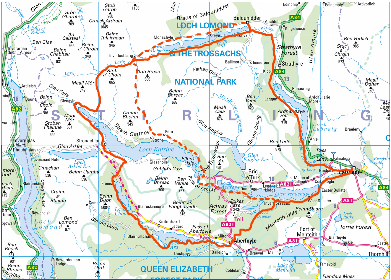 stirling scotland map with The Trossachs Way on Findasquadron also File Stirling Castle Main Gate likewise Scotland North furthermore Destinations also Detailed Map Of Scotland.