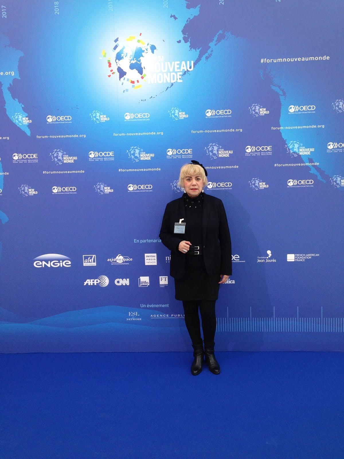 "Morgane BRAVO à OCDE : Colloque ""Nouveau Monde"""