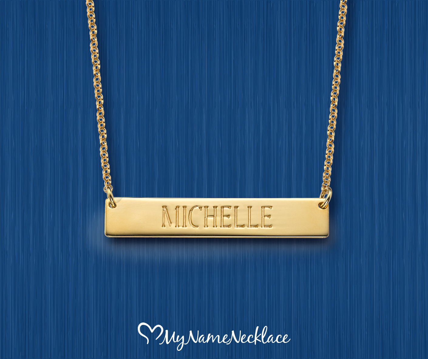 Bar necklaces are so popular right now and we want to ensure you get to enjoy this popular fashion trend with the Engraved Bar Necklace in Gold Plating.