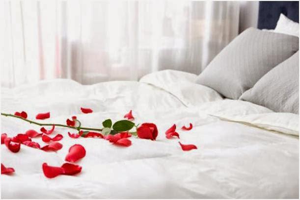 Decoracion de dormitorio para San Valentin.