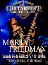 Recitales en Chile : Abril 2015                                                      Marty Friedman