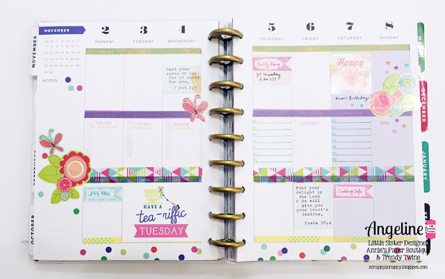 Trendy Twine: Planner Monday - Welcome November #trendytwine #scrappyscrappy #checkitoff #planner #stamp #plannerstamp