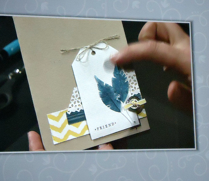 Stampin' Up! Faux Feather Card