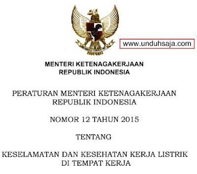 Permenaker no 12 tahun 2015