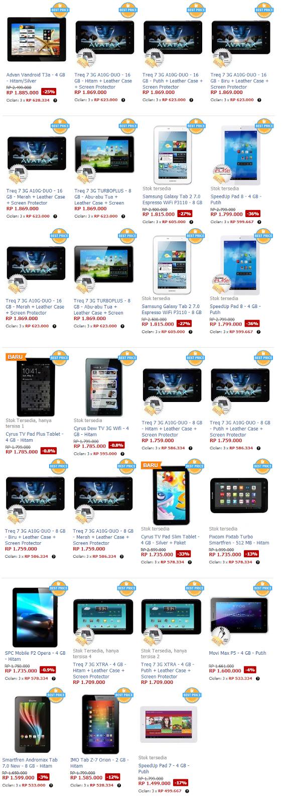 Tablet Android Terbaik Dibawah 2 Juta