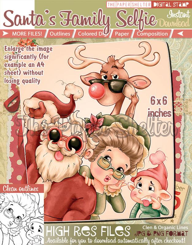Santa's Family Selfie