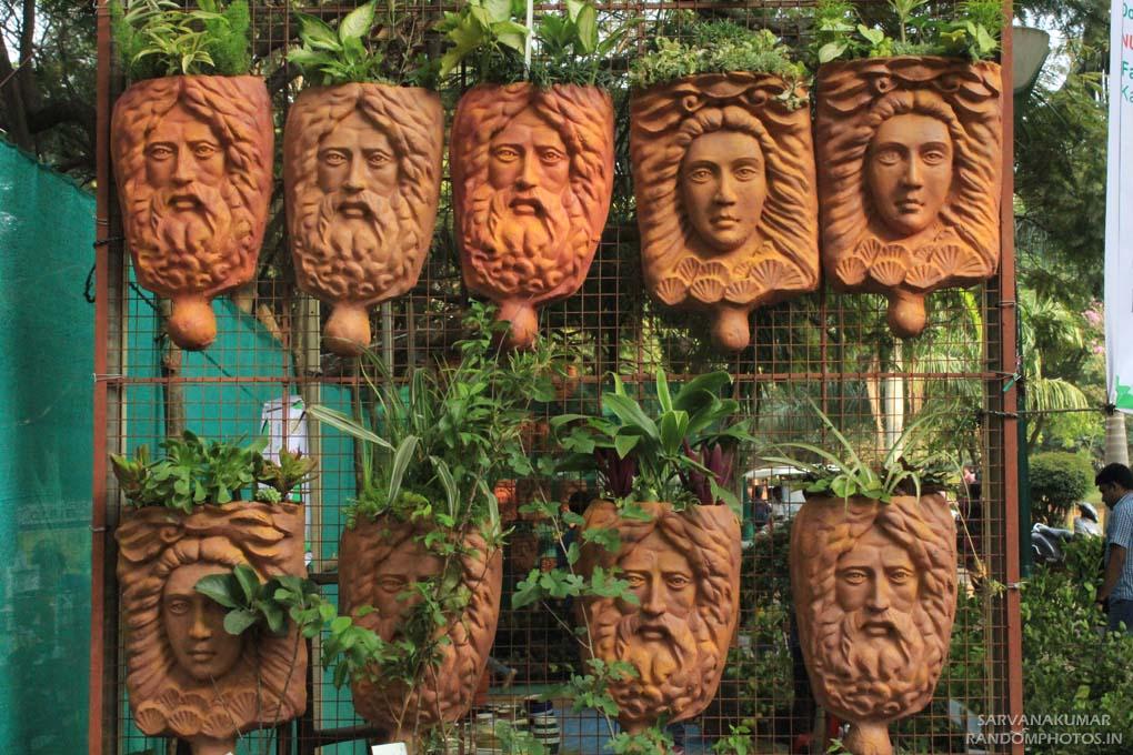 Human Face Flower Pots