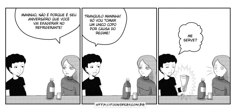 Não exagera no refrigerante