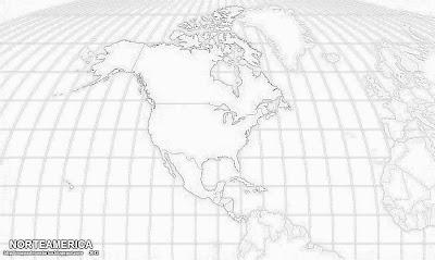 Paises de Norteamerica, blanco y negro