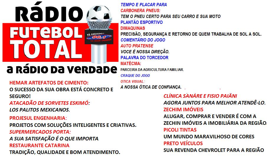 TIMAÇO DO FUTEBOL DA 96 FM