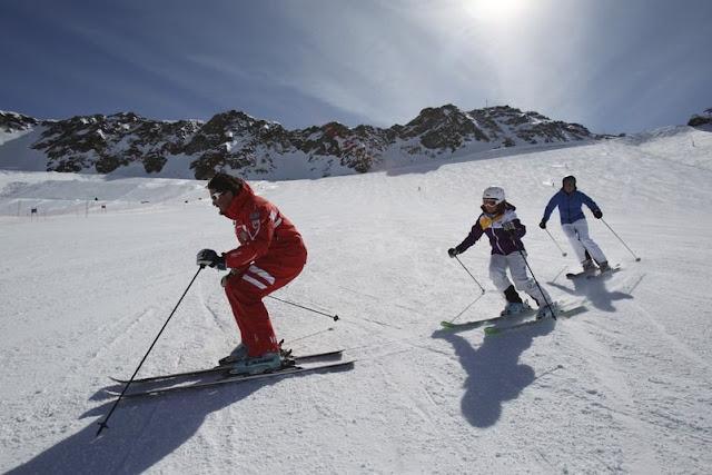 Die Vielfalt der Südtiroler Berge bietet Pisten sowohl für Profis, als auch für Anfänger...